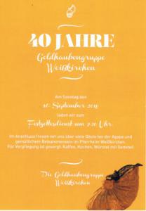40 Jahre Goldhaubengruppe Weißkirchen